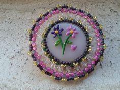 Tutorial spilla primavera tecnica embroidery