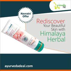 #Navratrioffer  Rediscover Your Beautiful Skin with Himalaya Herbal.  Buy any Himalaya herbal skin care product # ayurvedadeal.com & save up to 12%