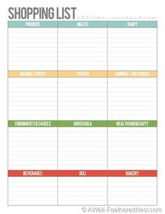 A Well Feathered Nest: Plan Your Life: Printable Planning Pages And  Calendars