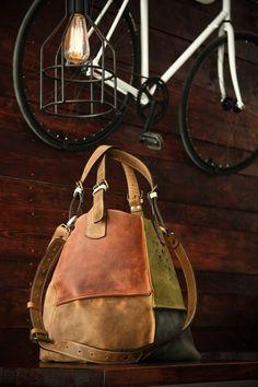 handmade leder handtasche leder bag designt farbe