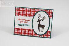 Stampin' Up, Weihnachtskarte, Unter dem Mistelzweig, Rentier, Christmas