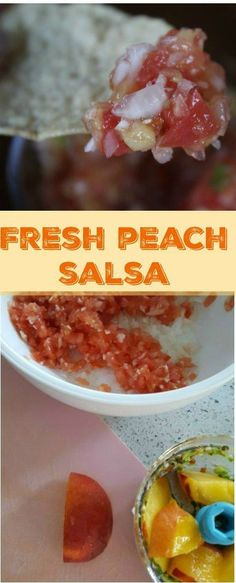 This Fresh Peach Salsa is easy to make and is delicious! With a bit of sweetness and a bit of heat, you will love the blend of flavors. Fresh Peach Salsa