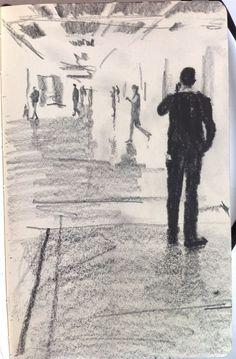Moleskine J #003 graphite pencil drawing
