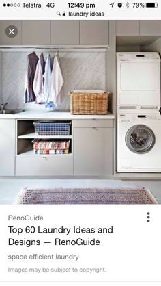 DIY Laundry Room Storage Shelves Ideas Laundry room decor Small laundry room organization Laundry closet ideas Laundry room storage Stackable washer dryer laundry room Small laundry room makeover A Budget Sink Load Clothes Laundry Room Cabinets, Laundry Room Organization, Laundry In Bathroom, Diy Cabinets, Ikea Laundry, Cupboards, Kitchen Cabinets, Interior Design Living Room, Living Room Designs