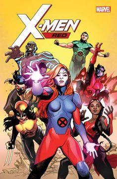 X MEN RED - TEAM: Jean Grey - Gentle - Namor - Gaby - Nightcrawler - Wolverine and Trinary