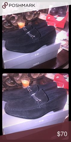 Men Shoes Size 9 Stacy Adams , black suede shoes Stacy Adams Shoes Loafers & Slip-Ons