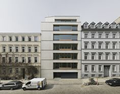 Zanderroth Architekten - Housing block (made of light-weight concrete), Berlin Via, photos © Simon Menges. Arch Building, Building Facade, Building Design, Architecture Magazines, Facade Architecture, Contemporary Architecture, Social Housing, Facade Design, Facades