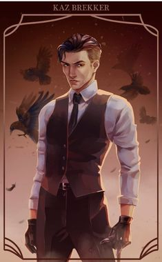 """""""""""A liar, a thief, and utterly without conscience. But he'll keep to any deal you strike with him."""" Kaz Brekker from Six of crows , character belongs to This is one of my fav character so far✨🖤"""" Six Of Crows Characters, Book Characters, Fanart, Crow Books, Freddy Carter, Character Art, Character Design, Kaz Brekker, Crooked Kingdom"""