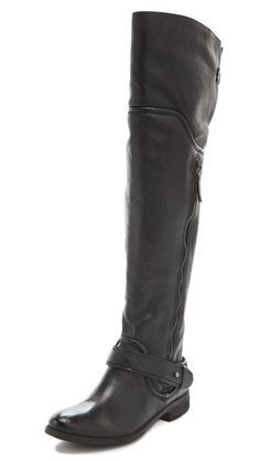 Perfect fall boot. Going to wear with my sweater dresses and skinny jeans. Luxury Rebel Shoes Lynn Over the Knee Boots