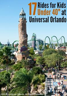 "Planning a trip to Universal Orlando with little ones? Here are 17 rides and play areas for kids under 40"" tall. We took our not quite three year old last summer and there was TONS for him to do!"