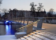 Tullhus hot air heated bridge by Erik Andersson Architects has opened in Norrköping, Sweden.