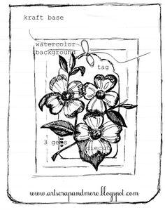 art scrap & more: a sketch & a card - Hero Arts' diecut & stamp