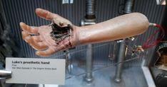 Luke's blasted prosthetic hand, shot in the scenes on Jabba's sail barge.