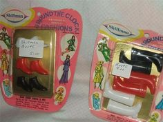 Shillman Vintage Barbie size 2 Paks of Boots Mint on Card Around The Clock Fashions | eBay