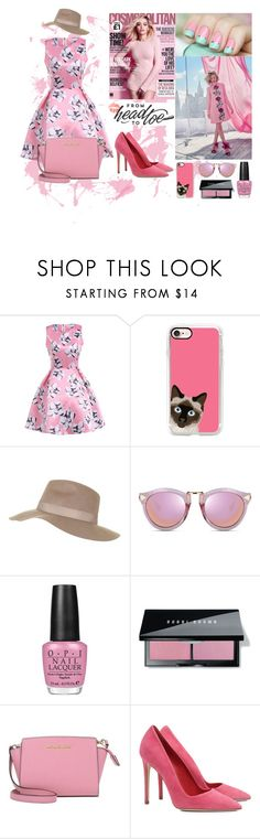 """LET PINK RULE"" by gabriellef-1 on Polyvore featuring Casetify, Topshop, OPI, Bobbi Brown Cosmetics, MICHAEL Michael Kors and Dee Keller"