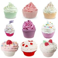 Check out the How to make bath bomb cupcakes video by Soap Queen ~ they look good enough to eat!