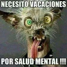 Necesito vacaciones, por salud mental