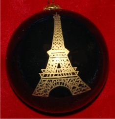 The Pride of Paris: Eiffel Tower Christmas Ornament Personalized
