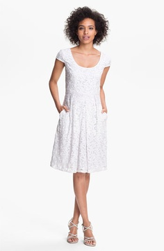 Adrianna Papell Embroidered Mesh Fit & Flare Dress | Nordstrom