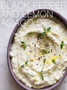 Black Pepper and Lemon Asiago Dip @FoodBlogs