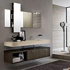 Mobile bagno sospeso design moderno n.41