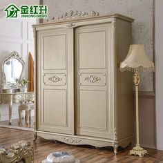 Beautiful Ivory Luxury French-Style Carved Wardrobe – Home Trends 2020 Classic Home Furniture, White Furniture, French Furniture, Bedroom Furniture, Bedroom Decor, 2 Door Wardrobe, Bedroom Wardrobe, Muebles Shabby Chic, Master Bedroom Interior