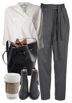"""""""Untitled #6848"""" by laurenmboot ❤ liked on Polyvore featuring Topshop, Helmut Lang, Mansur Gavriel and Acne Studios"""
