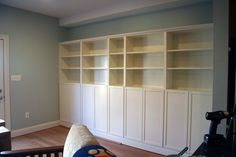 Ikea Built In Bookcases, via Flickr.