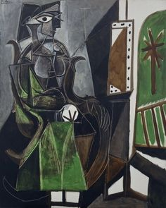 dionyssos:  Pablo Picasso (Spanish, 1881–1973), Woman by a Window, 1956. Oil on canvas, 162 x 130cm.