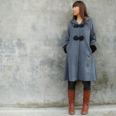 Russian doll cashmere hood long coat Y1029 by idea2lifestyle, $120.00