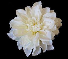 Wedding hairpiece Bridal Cream Dahlia Hair Flower by OliniFloral, $38.00