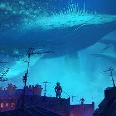 "artissimo: ""whale rider by artur sadlos Syd Mead's Sentury II """