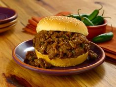 Add an Asian twist to the traditional sloppy joe. Ground Beef, hoisin and soy sauce give this meal a worldly flavor. Try this recipe tonight. Pear Salad, Mongolian Beef, Duck Sauce, Sweet Pickles, Hoisin Sauce, Soy Sauce, Cooking Ingredients, Dinner Rolls, Ground Beef Recipes