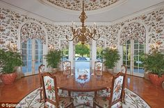 Garish: Miss Ecclestone 'hates' the old-fashioned decor preferred by the previous owner