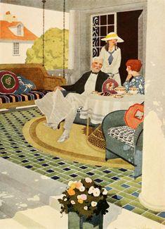 Home Tile Designs from the Associated Tile Manufacturers (Beaver Falls, Pa. Home Tiles Design, 1920s Interior Design, Art Deco Cards, Art Deco Artists, Artistic Tile, Art Deco Home, Vintage Interiors, Art Deco Design, Beautiful Artwork