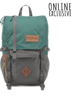 The new JanSport Frosted Teal and Grey Hatchet Backpack from the Outside Collection featuring laptop and tablet sleeves, perfect for weekend adventures.