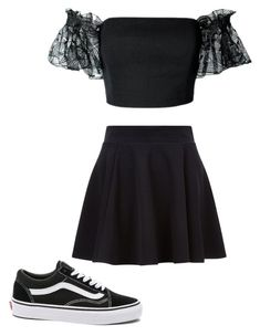 """""""Untitled #4"""" by alyissahood1 ❤ liked on Polyvore featuring Plakinger and Vans"""