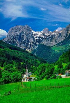 Mountain Village. Ramsau Bavaria, Germany