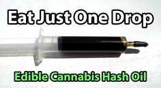 Edible Cannabis Hash Oil - Rick Simpson Oil - Eat just one drop per day, about the size of a grain of rice to start - Pic provided by Jeff Ditchfield of BIO-SIL
