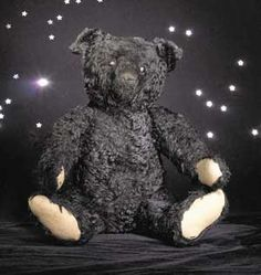 Christie's Auction House in London, South Kensington, sold on December 4, 2000, an exceptionally fine and rare, though rather sad faced, Steiff Black Teddy Bear for $136,000.00. (Or, 91,750 pounds.) The bear was one of only 600 which were made especially for the British market in May 1912, to show empathy for the loss of the passengers of the R.M.S. Titanic. (Photo by Christie's.)