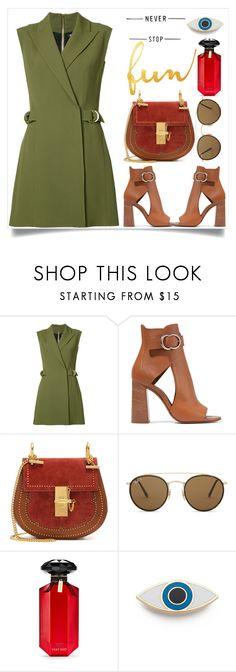 """""""Untitled #311"""" by poorvashikalra ❤ liked on Polyvore featuring Balmain, Chloé, Ray-Ban, Victoria's Secret and Georgia Perry"""