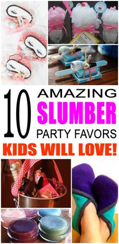 Fun slumber party favor ideas that kids, tweens and teens will love. Try these simple diy slumber and spa party favors for boys and girls. Here are some easy gift bags, treat bags and more birthday ideas to say thank you to the friends of that special birthday child.
