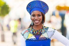 Zulu Traditional wear for women 2020 Mbali wore a acceptable Zulu babe accouterments while her baldh Zulu Women, African Women, African Fashion, Traditional Irish Clothing, Traditional Outfits, Zulu Warrior, Africa People, Beauty Around The World, Stock Image
