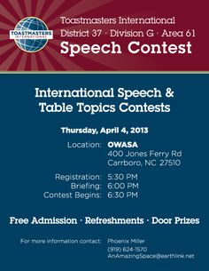 Sch Contest Uhcl Toastmasters