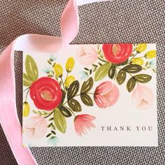 .@Petra Veikkola | Thank you! #thepaintedarrow #thankyoucard #flowers #vscocam | Webstagram