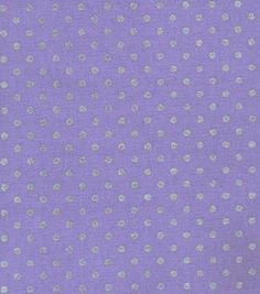 Keepsake Calico Fabric Lavender Mini Dot Metallic
