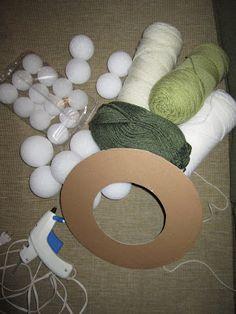 The Keylor Family: Get Me Through the Winter (Yarn Ball Wreath Tutorial)