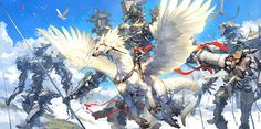 Flying dragon expert -Valley of the giant god by Toshiaki Takayama Takayama, Character Design Cartoon, Character Art, Comic Japan, Super Images, Branding, New Backgrounds, Ex Machina, Final Fantasy Xiv