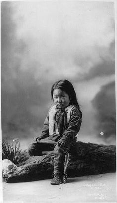 John Lone Bull, Sioux Indian child, circa 1900