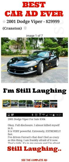 FUNNIEST CAR AD YOU EVER SAW http://omgshots.com/3489-best-car-ad-you-ever-will-see.html